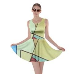 Abstract Art Face Skater Dress