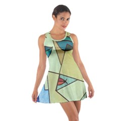 Abstract Art Face Cotton Racerback Dress