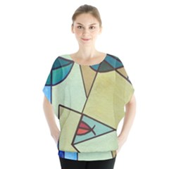 Abstract Art Face Blouse