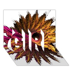 Abstract Fractal GIRL 3D Greeting Card (7x5)