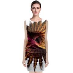 Abstract Fractal Classic Sleeveless Midi Dress