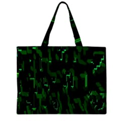 Abstract Art Background Green Large Tote Bag