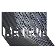 Architecture BELIEVE 3D Greeting Card (8x4)