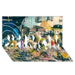 Art Graffiti Abstract Vintage #1 MOM 3D Greeting Cards (8x4)