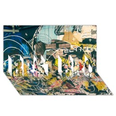Art Graffiti Abstract Vintage BEST BRO 3D Greeting Card (8x4)