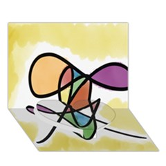 Art Abstract Exhibition Colours Heart Bottom 3D Greeting Card (7x5)