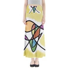 Art Abstract Exhibition Colours Maxi Skirts
