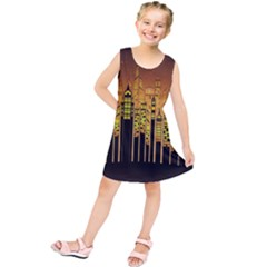 Buildings Skyscrapers City Kids  Tunic Dress