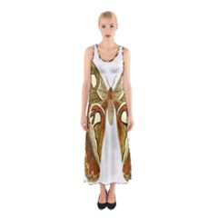 Butterfly Animal Insect  Sleeveless Maxi Dress