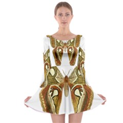 Butterfly Animal Insect  Long Sleeve Skater Dress
