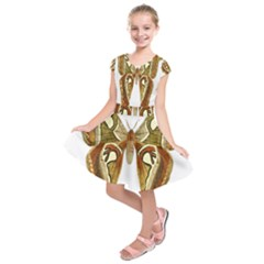 Butterfly Animal Insect  Kids  Short Sleeve Dress