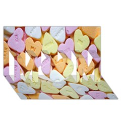 Candy Pattern MOM 3D Greeting Card (8x4)