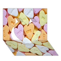 Candy Pattern Heart 3D Greeting Card (7x5)