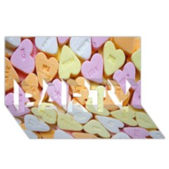Candy Pattern PARTY 3D Greeting Card (8x4)