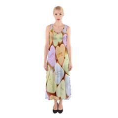 Candy Pattern Sleeveless Maxi Dress
