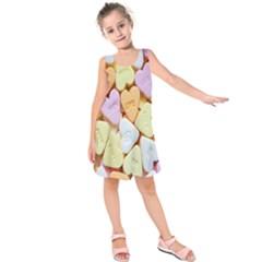 Candy Pattern Kids  Sleeveless Dress