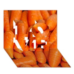 Carrots Vegetables Market LOVE 3D Greeting Card (7x5)