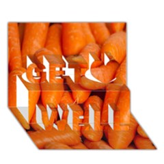 Carrots Vegetables Market Get Well 3D Greeting Card (7x5)