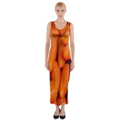 Carrots Vegetables Market Fitted Maxi Dress