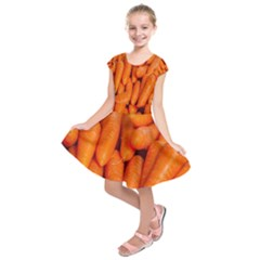 Carrots Vegetables Market Kids  Short Sleeve Dress