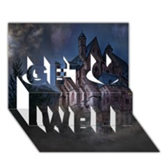 Castle Mystical Mood Moonlight  Get Well 3D Greeting Card (7x5)