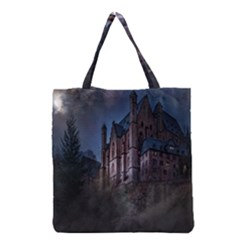 Castle Mystical Mood Moonlight  Grocery Tote Bag