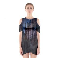 Castle Mystical Mood Moonlight  Cutout Shoulder Dress