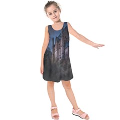 Castle Mystical Mood Moonlight  Kids  Sleeveless Dress