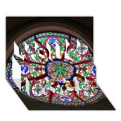 Church Window Window Rosette You Rock 3D Greeting Card (7x5)