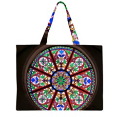 Church Window Window Rosette Large Tote Bag