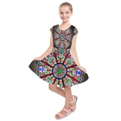 Church Window Window Rosette Kids  Short Sleeve Dress
