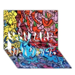 Colorful Graffiti Art YOU ARE INVITED 3D Greeting Card (7x5)