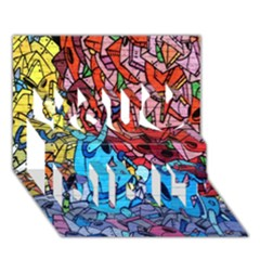 Colorful Graffiti Art You Did It 3D Greeting Card (7x5)