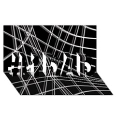 Black and white warped lines #1 DAD 3D Greeting Card (8x4)
