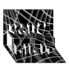 Black and white warped lines You Did It 3D Greeting Card (7x5)