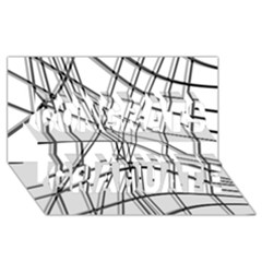 White and black warped lines Congrats Graduate 3D Greeting Card (8x4)