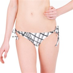 White and black warped lines Bikini Bottom