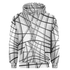 White and black warped lines Men s Pullover Hoodie