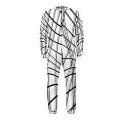White and black warped lines OnePiece Jumpsuit (Kids)