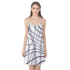 White and black warped lines Camis Nightgown