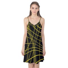 Yellow abstract warped lines Camis Nightgown