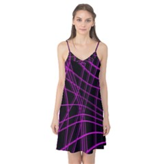 Purple and black warped lines Camis Nightgown