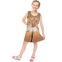 Dandelion Sun Dew Water Plants Kids  Tunic Dress