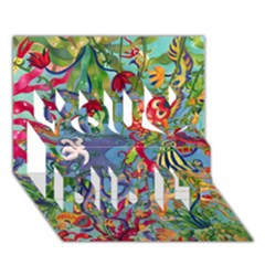 Dubai Abstract Art You Did It 3D Greeting Card (7x5)