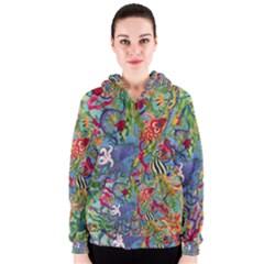 Dubai Abstract Art Women s Zipper Hoodie