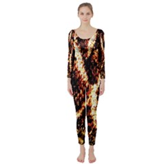 Fabric Yikes Texture Long Sleeve Catsuit