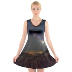 Fairyland Canyon Utah Park V-Neck Sleeveless Skater Dress