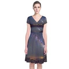 Fairyland Canyon Utah Park Short Sleeve Front Wrap Dress