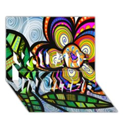 Folk Art Flower YOU ARE INVITED 3D Greeting Card (7x5)