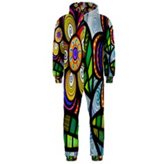 Folk Art Flower Hooded Jumpsuit (Men)